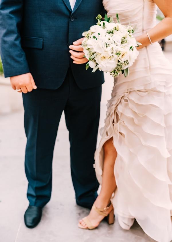 french bridal bouquet details