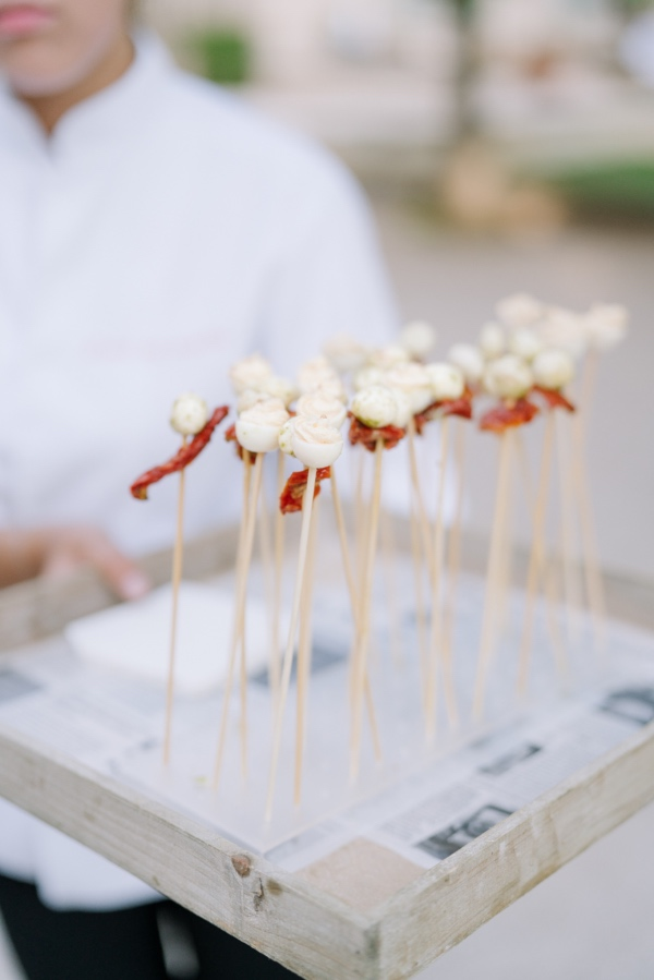 french canapés outdoors