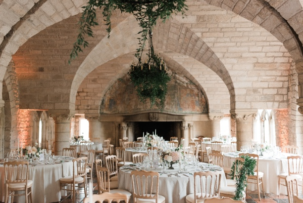 french chateau wedding tables