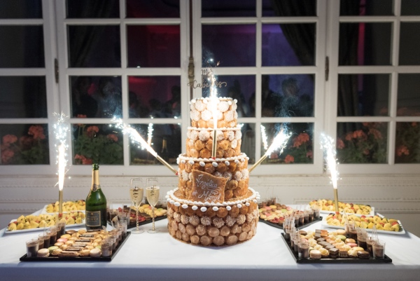 french pastry firework wedding cake