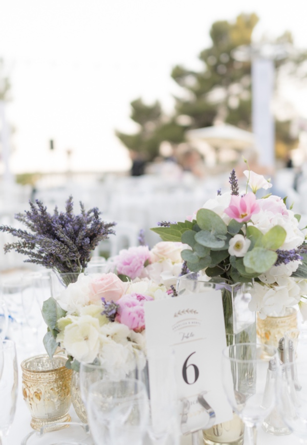 french wedding table setup