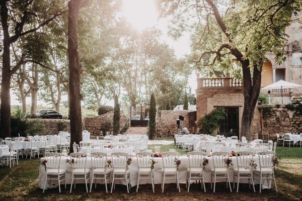 french wedding table setup