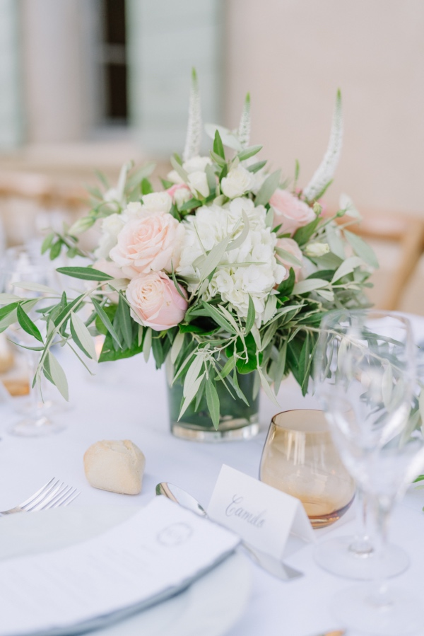 green delicate wedding decor