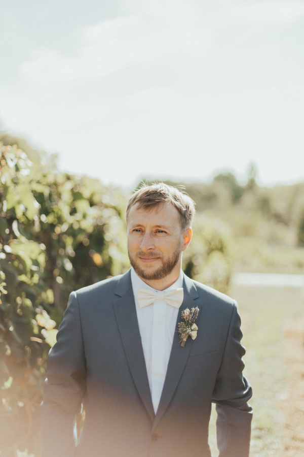groom in french vineyard