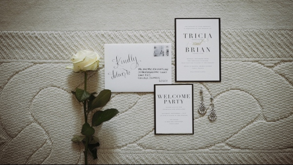luxe modern wedding stationery