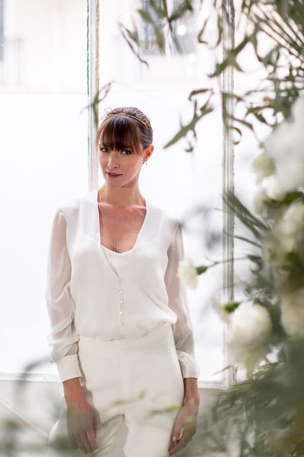 minimalist bridal jumpsuit