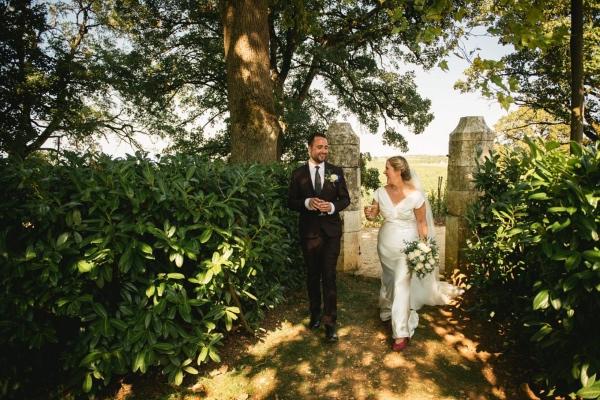 modern wedding couple france
