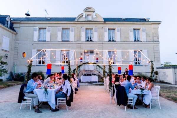 outdoor Loire Valley wedding