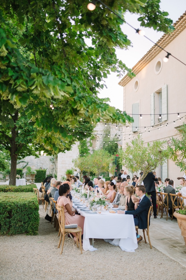 outdoor ceremony chateau