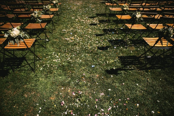 outdoor ceremony setup france