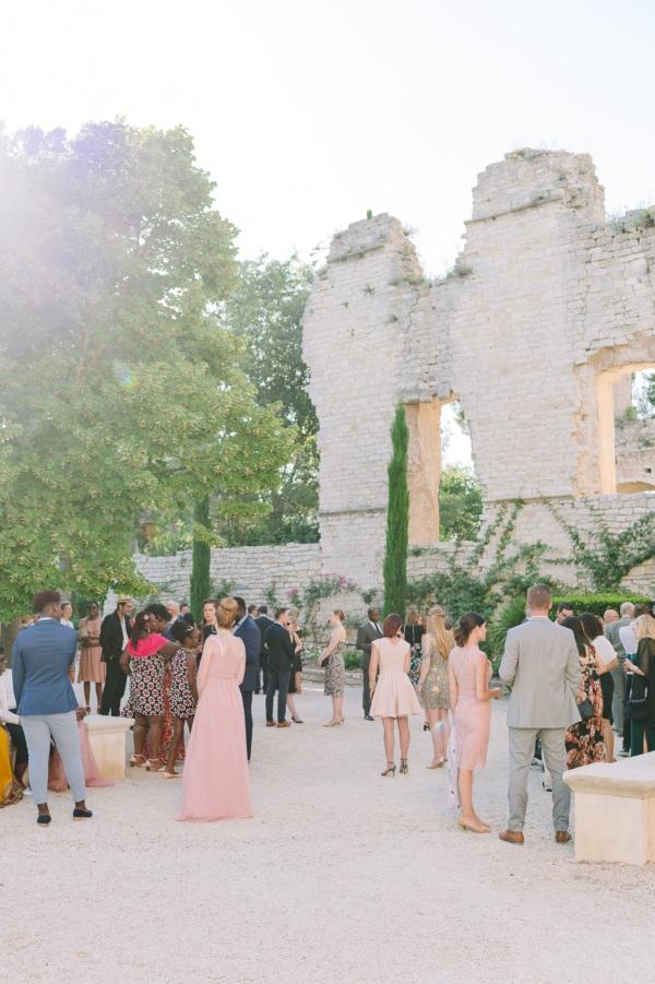 outdoor reception guests