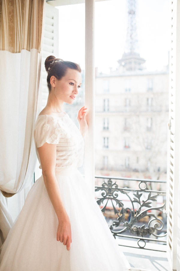 paris bridal wedding