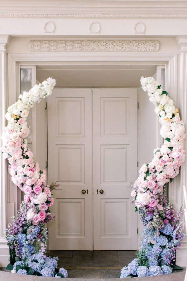 floral entrance at your luxury wedding