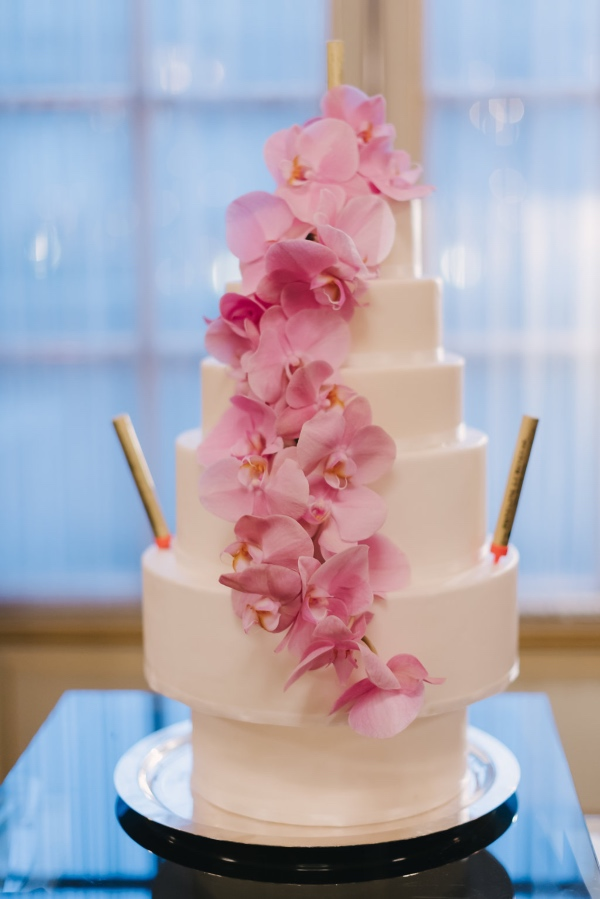 pink fairytale wedding cake