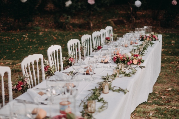 rose pink romantic french table