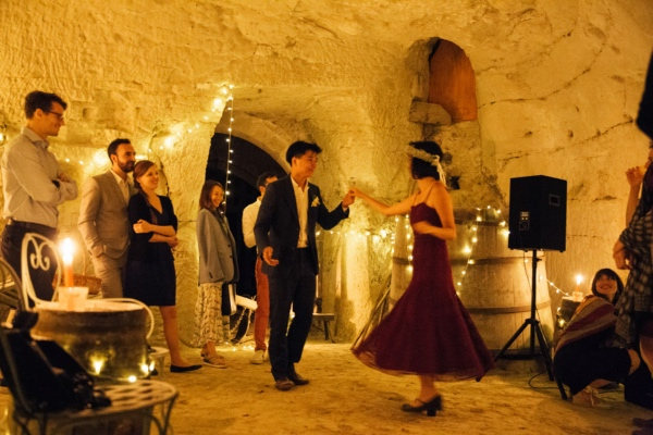 rustic indoor france wedding