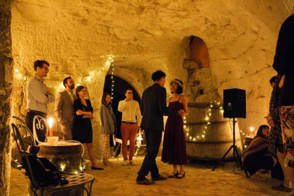 rustic lights france wedding