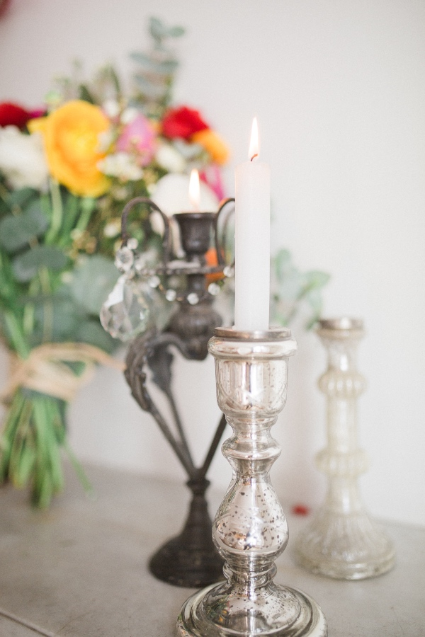silver luxe candlestick