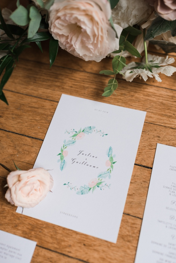 summer floral stationery