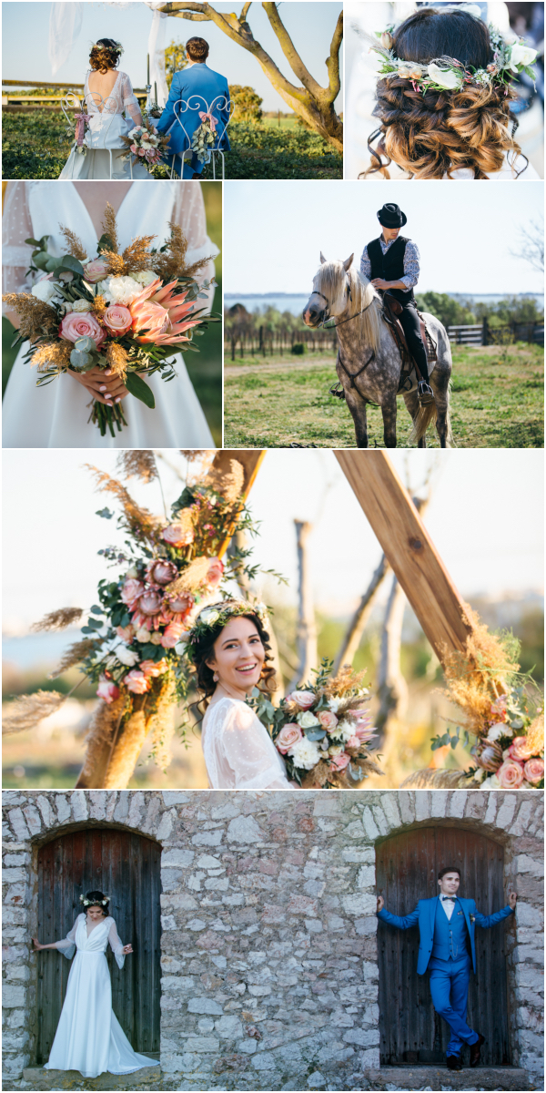 Beautiful wedding in Camargue Provence Snapshot
