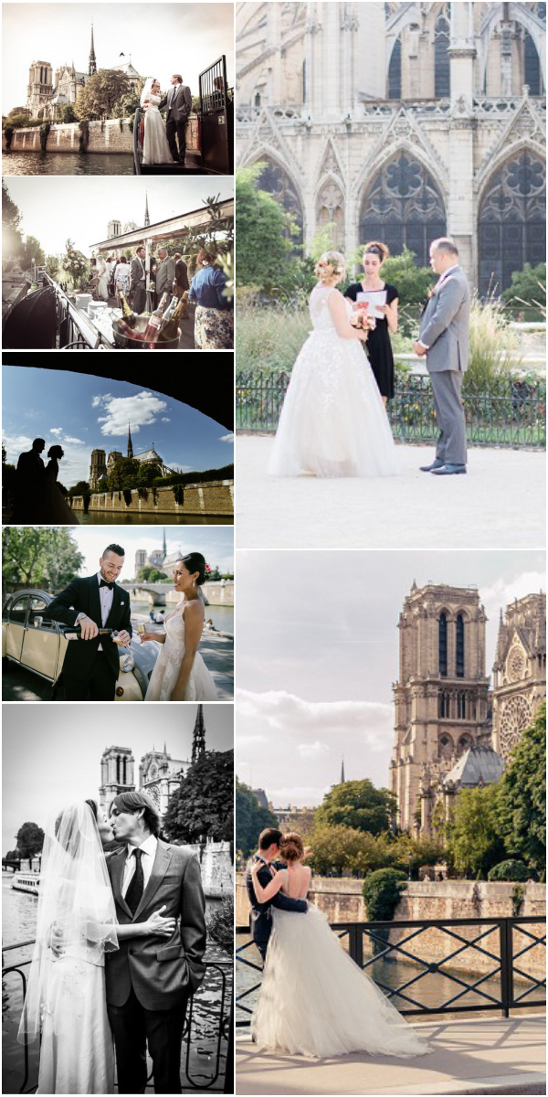 Celebrating Notre Dame weddings in Paris Snapshot