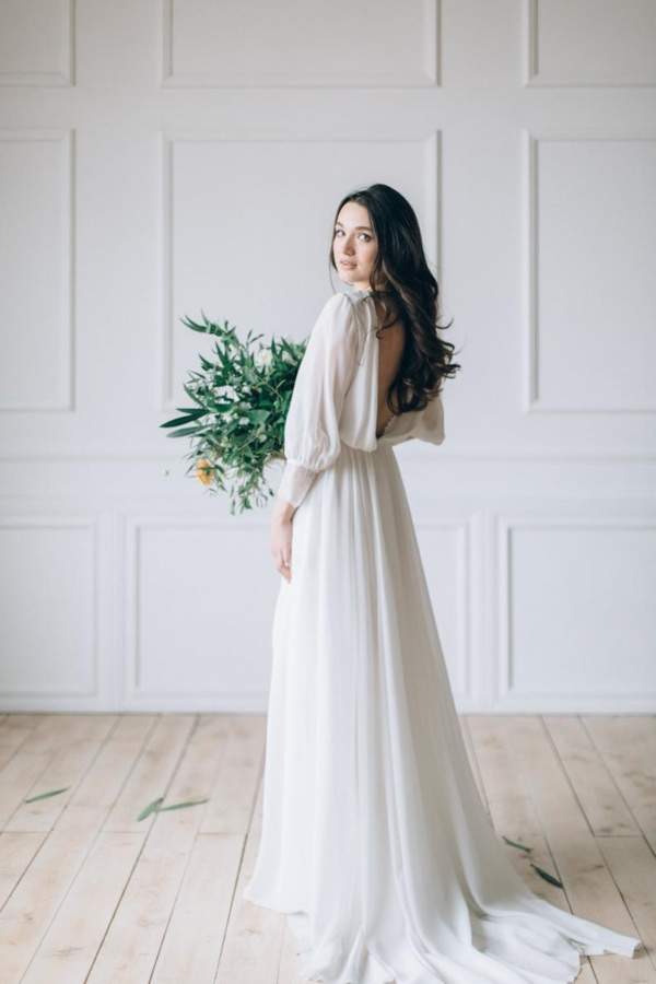 Dream and Dress Chiffon Bridal Dress
