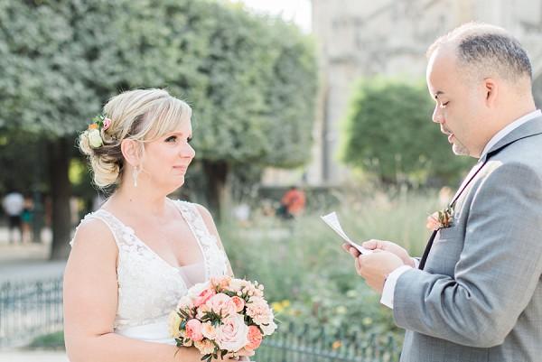 Grooms elopement vows