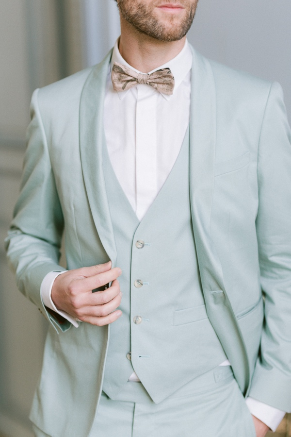 Light blue groom suit