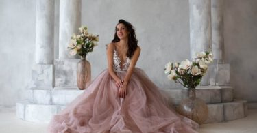 Our Stories Bridal Pink Tulle Gown