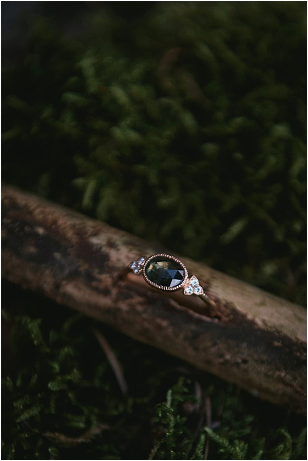 Ring with beautiful gem and diamonds