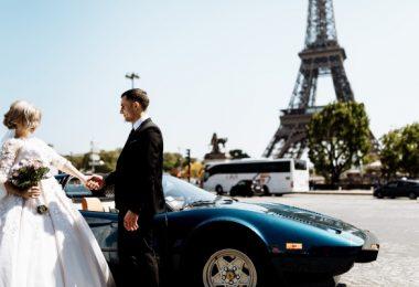 Romantic Bride and Groom Paris