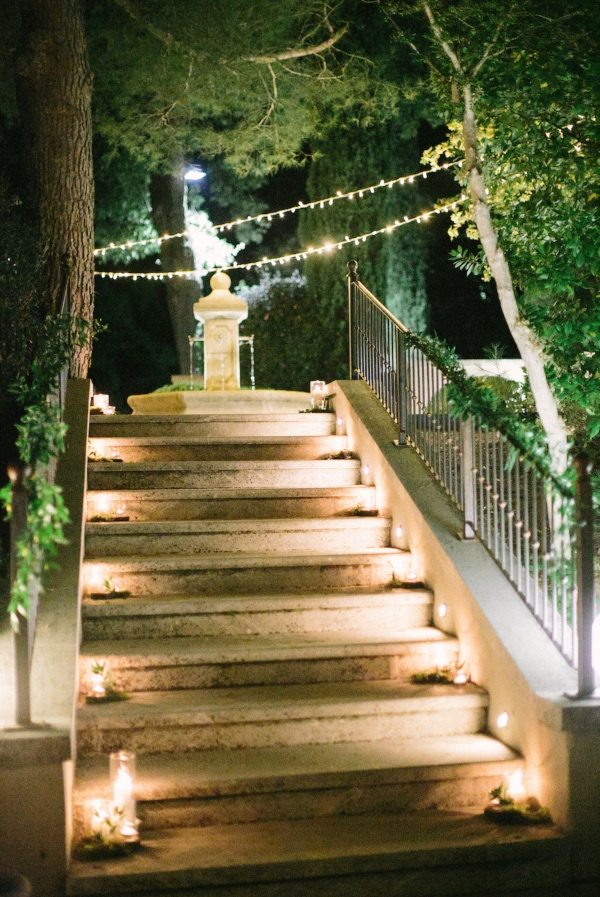 Romantic Chateau Wedding Lights