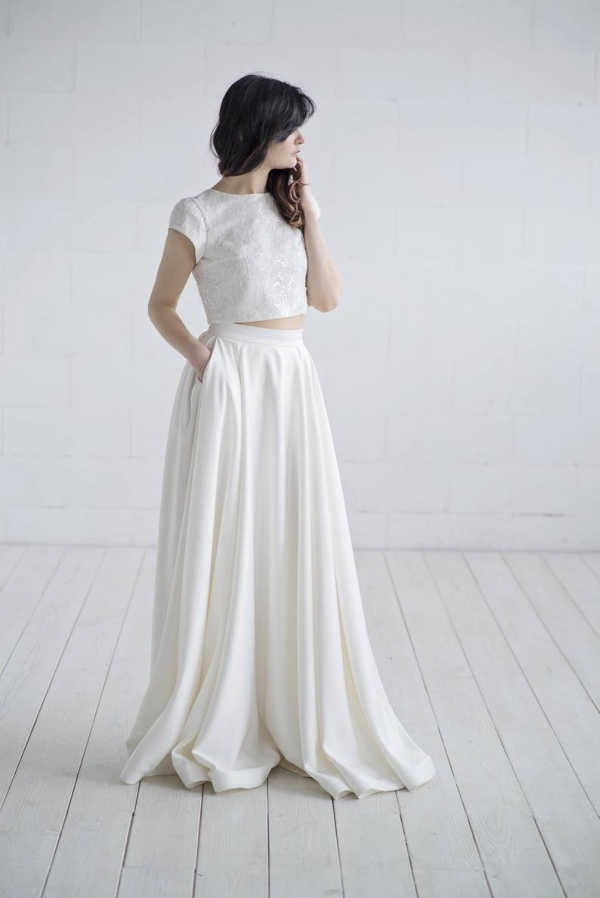 Wardrobe By Dulcinea Crop Top Wedding Dress