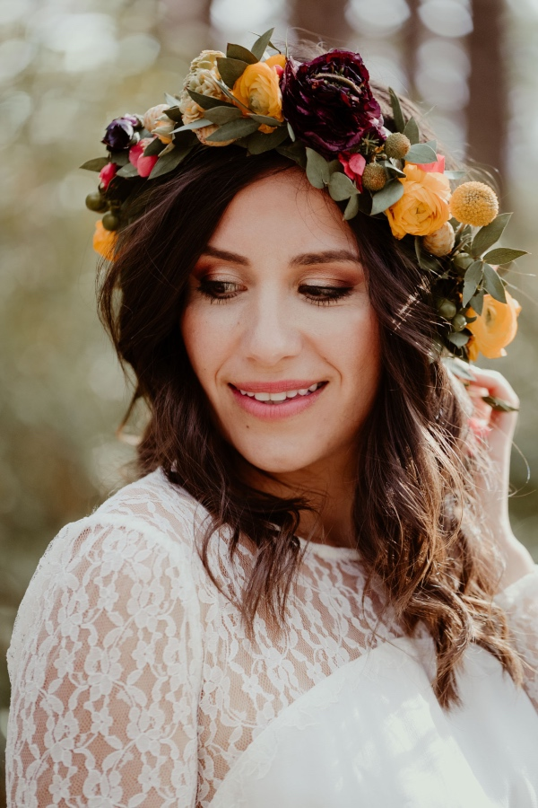 beautiful floral crown