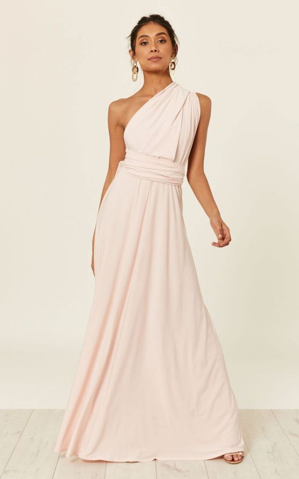 blush multiway bridesmaid dress