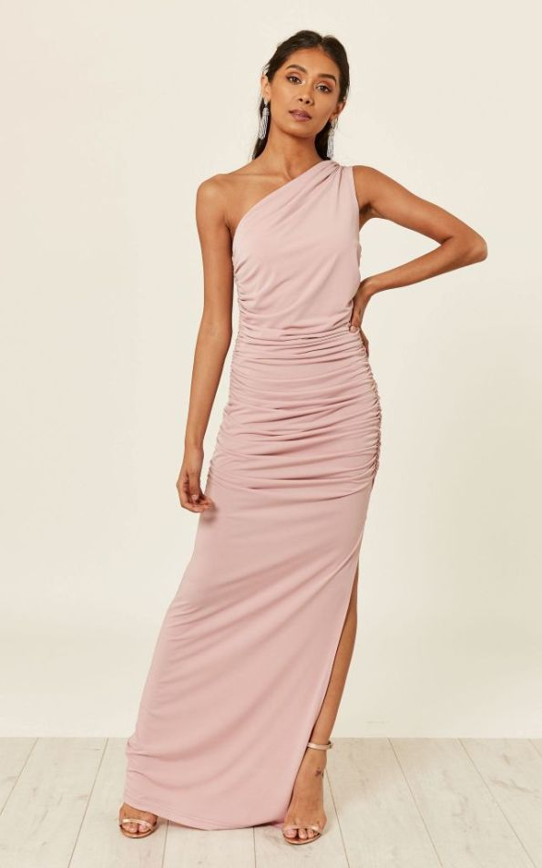blush one should bridesmaid dress