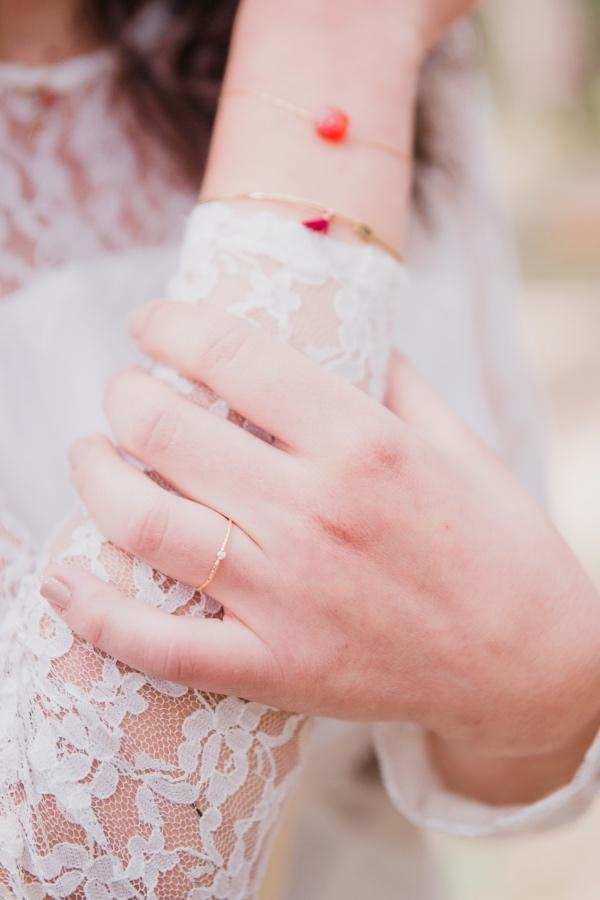 boho lace dress details