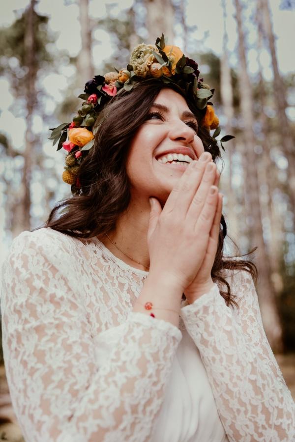 bridal boho style