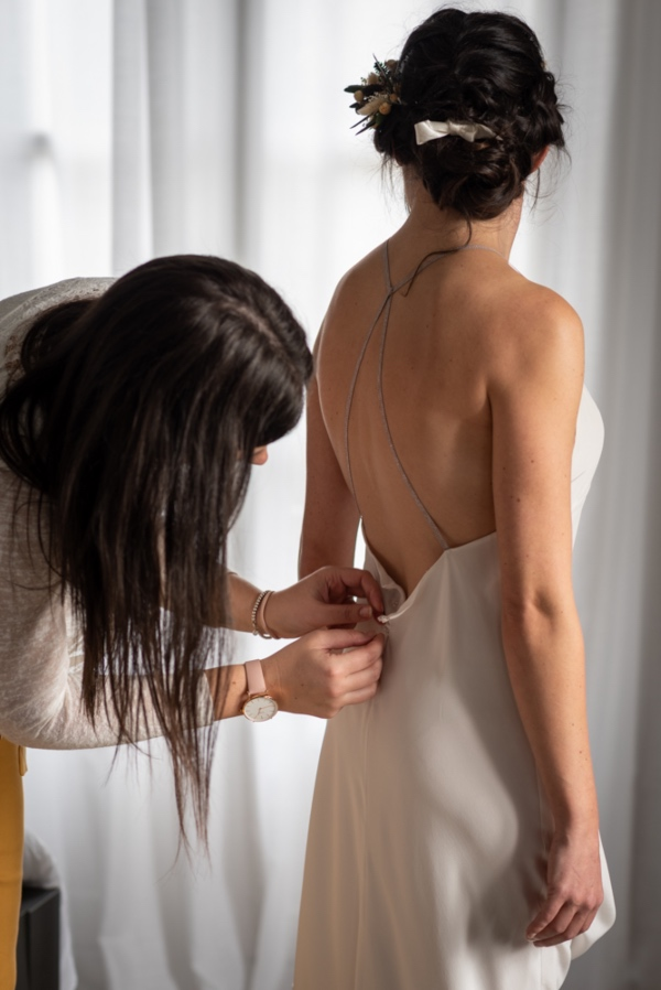 bridal dress prep