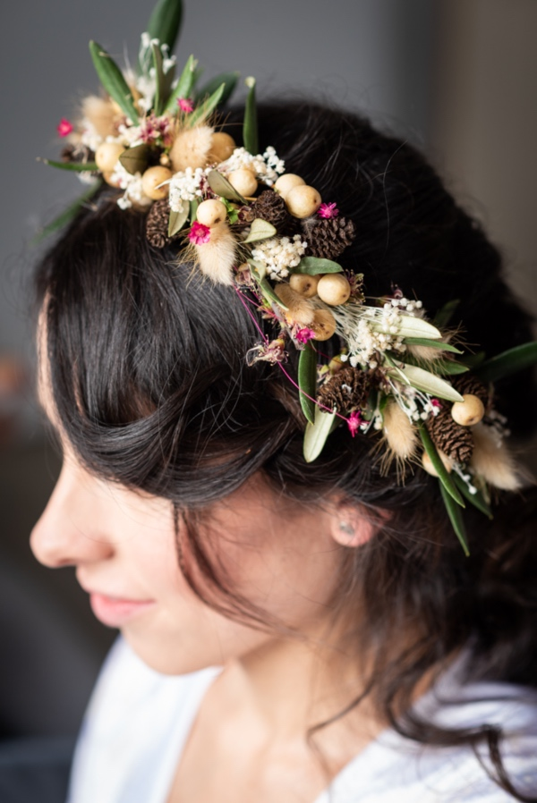 bridal floral crown
