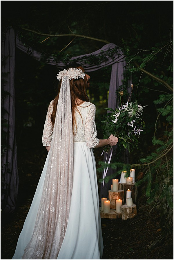 bride at the alter in the Alps