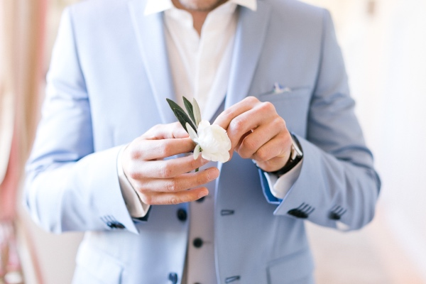 buttonhole white rose