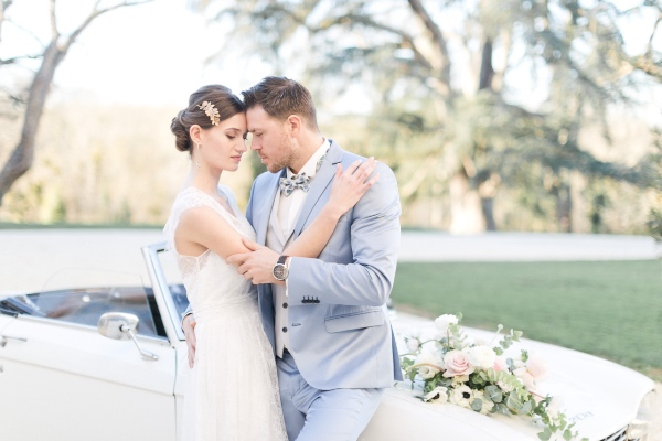chateau chic bride and groom