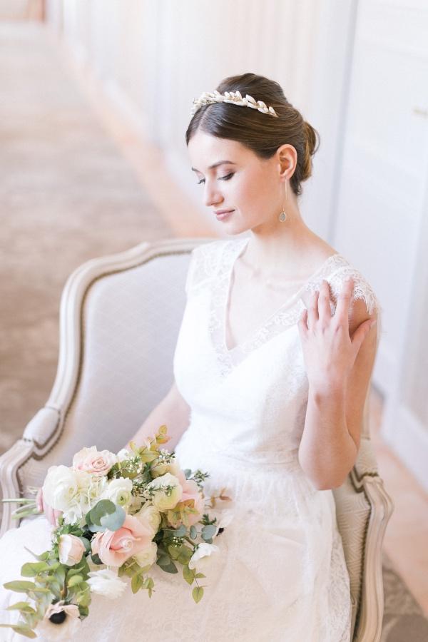 elegant chateau bride