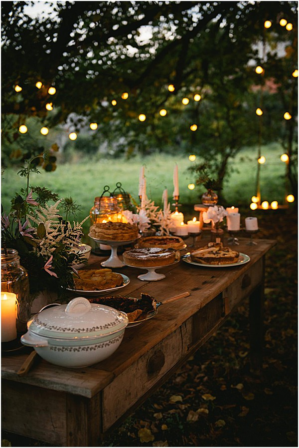 fall wedding table top