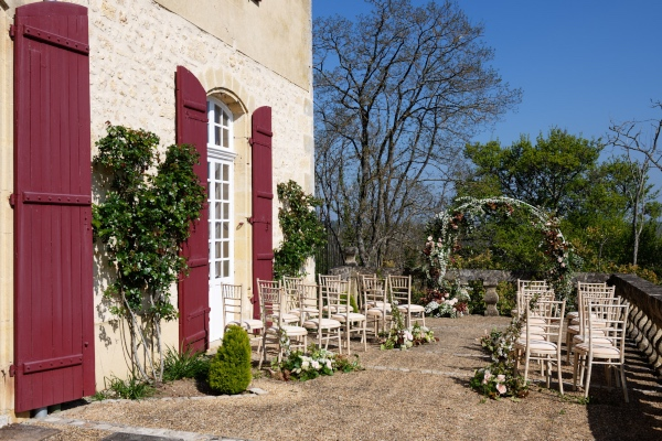 french rustic ceremony