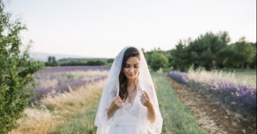 full size bridal veil