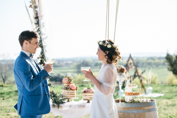 hanging wedding table design