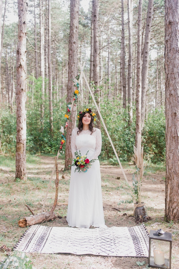 intimate boho wedding
