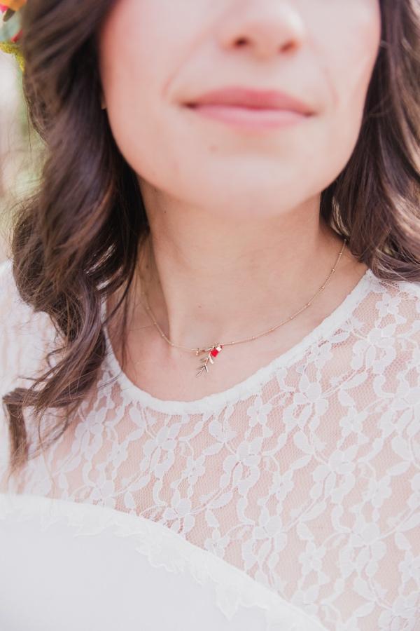 lace bridal details